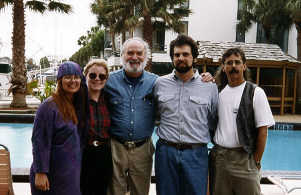 Artist Dan DAmico with Paul Calle, Duffy and Jeanne Sheridan and Susan DAmico