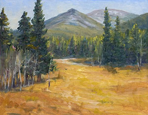 """Meadow Mountain"" by Dan D'Amico, a plein air landscape painting."