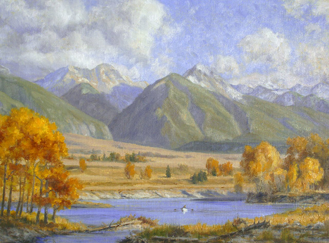 """Paradise"" by Dan D'Amico, a landscape painting of Paradise Valley in Montana."