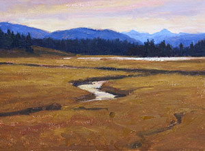 """Pelican Valley"" by Dan D'Amico, a plein air landscape painting."
