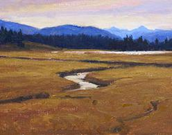 """Pelican Valley"" by Dan D'Amico, a Plein Air landscape painting"