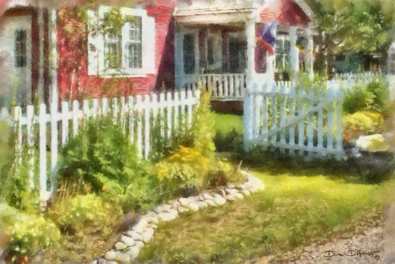 Mid Summer Morning By Dan DAmico A Garden Landscape Painting