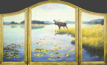 """Serenity"" by Dan D'Amico, a wildlife landscape painting"