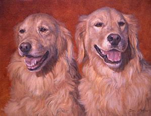 """Annie and Sophie"", a pet portrait by Dan D'Amico"