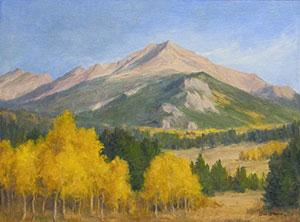 """Colorado Gold"" by Dan D'Amico, a plein air landscape painting."